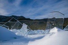 Limpie el hielo transparente Foto de archivo libre de regalías