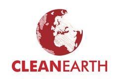 Limpie el logotipo de la tierra Imagenes de archivo