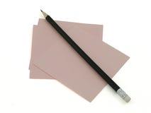 Limpie el papel y el lápiz Foto de archivo