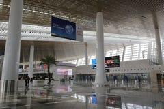 Limpie el pasillo del nuevo t4 terminal, ciudad amoy, China Imagen de archivo