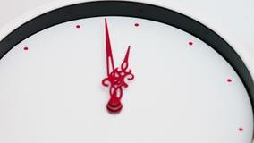 Limpie el reloj blanco Timelapse almacen de video