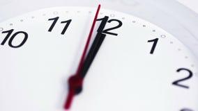 Limpie el reloj blanco Timelapse 4K almacen de video