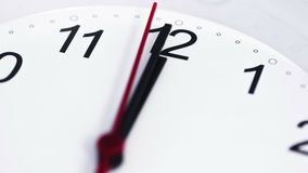 Limpie el reloj blanco Timelapse 4K almacen de metraje de vídeo