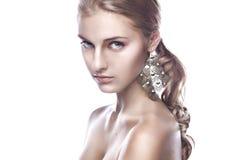 Limpie el retrato de la belleza de un rubio Imagen de archivo libre de regalías