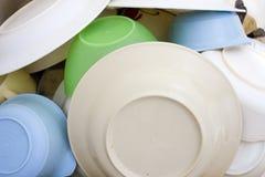 Limpie el secado de los platos imágenes de archivo libres de regalías