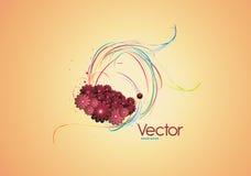 Limpie el vector floral Fotos de archivo libres de regalías