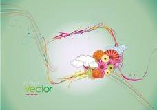 Limpie el vector floral Fotos de archivo