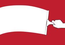 Limpie la bandera stock de ilustración