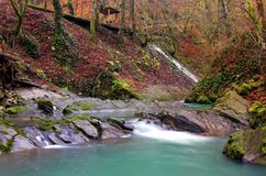 Limpie la cascada Imagen de archivo libre de regalías