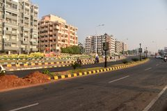 Limpie la ciudad de la India Fotografía de archivo
