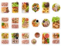 Limpie la fiambrera de la comida imagenes de archivo