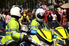 Limpie la motocicleta que se cierra del camino, seguridad pública, incidente importante Fotografía de archivo