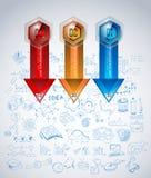 Limpie la plantilla de la disposición de Infographic para el análisis de los datos y de la información Foto de archivo libre de regalías