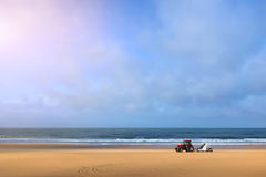 Limpie la playa Fotos de archivo libres de regalías