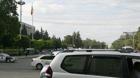 Limpie la vigilancia del campo del manifestante en Chisinau, el Moldavia metrajes