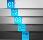 Limpie las banderas numeradas para el texto de la muestra. Vector Imágenes de archivo libres de regalías