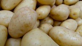 Limpie las patatas inglesas en el mercado Imagen de archivo libre de regalías