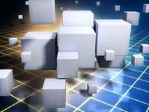 Limpie los cubos stock de ilustración