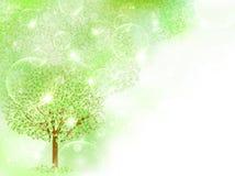 Limpie los ejemplos verdes frescos del fondo Foto de archivo