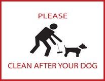 Limpie por favor después de su perro stock de ilustración
