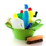 Limpieza con el jabón y los cepillos imágenes de archivo libres de regalías