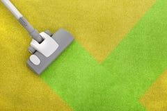 Limpieza de la alfombra Imagen de archivo
