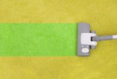 Limpieza de la alfombra Imagenes de archivo
