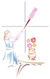 Limpieza de la casa stock de ilustración
