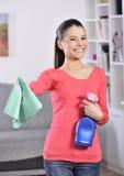 Limpieza de la casa Foto de archivo libre de regalías