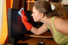 Limpieza de la chica joven Imagen de archivo libre de regalías