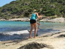 Limpieza de la costa Imagen de archivo