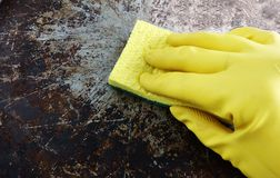 Limpieza de la mano Foto de archivo