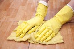 Limpieza de un azulejo de la cocina Imagen de archivo libre de regalías