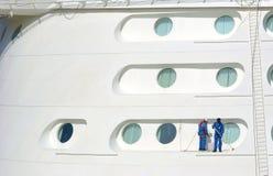 Limpieza del barco de cruceros Fotografía de archivo