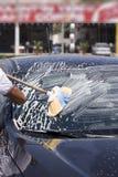 Limpieza del coche Fotos de archivo libres de regalías