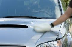Limpieza del coche Imagen de archivo libre de regalías