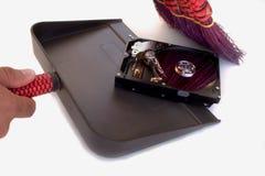 Limpieza del disco duro fotografía de archivo libre de regalías