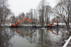 Limpieza del río de Malashka Imagen de archivo
