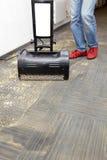 Limpieza en seco de alfombras Fotografía de archivo libre de regalías