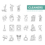 Limpieza seca del icono simple y mojada determinada Fotografía de archivo