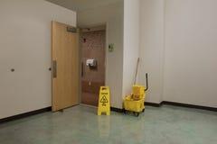 Limpieza y seguridad del lavabo Fotografía de archivo libre de regalías
