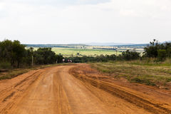 Limpopo farm road. A farm dirt road in the rural province of Limpopo, South Africa stock photos