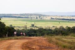 Limpopo lantgårdväg Arkivfoto