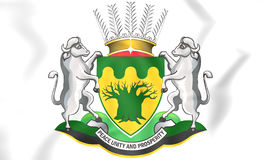 Limpopo Province coat of arms, South Africa. 3D Illustration Stock Photo