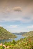 Limski Canal - landmark of Istrian Peninsula. Croatia royalty free stock photo