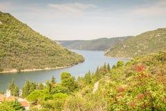 Limski Canal - landmark of Istrian Peninsula Royalty Free Stock Photo