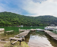 Limski Canal Limski Fjord in Istria Royalty Free Stock Images