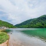 Limski Canal Limski Fjord in Istria. Near Rovinj. Adriatic Sea, Croatia royalty free stock photography