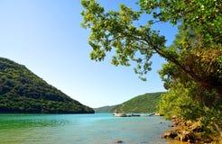 Limski fjord i Istria, Kroatien fotografering för bildbyråer