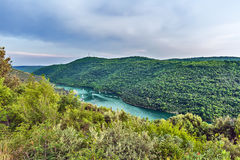 Limski-Kanal Limski-Fjord in Istria nahe Rovinj Lizenzfreie Stockfotos